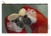 Scarlet Macaw Ara Macao Pair Kissing Carry-all Pouch