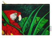 Scarlet Macaw Head Study Carry-all Pouch