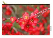Scarlet Quince Blooms Carry-all Pouch