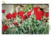 Scarlet Red Dianthus Carry-all Pouch