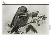 Scarlet Tanager - Black And White Carry-all Pouch