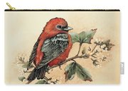 Scarlet Tanager - Vintage Carry-all Pouch
