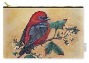 Scarlet Tanager - Acrylic Painting Carry-all Pouch