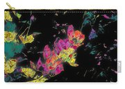 Scarlet Globe Mallow On Black Carry-all Pouch