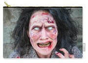 Scary Angry Zombie Woman Carry-all Pouch
