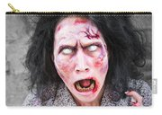 Scary Screaming Zombie Woman Carry-all Pouch