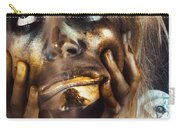 Scary Zombie Pulling Funny Face  Carry-all Pouch
