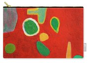 Scattered Things Over Red  Carry-all Pouch