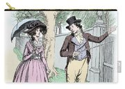 Scene From Sense And Sensibility By Jane Austen Carry-all Pouch