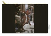 Scenes From The Life Of Moses Detail Alessandro Botticelli Carry-all Pouch