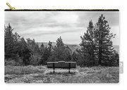 Scenic Bench In Black And White Carry-all Pouch