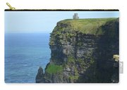 Scenic Lush Green Grass And Sea Cliffs Of Ireland Carry-all Pouch