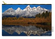 Scenic Teton Fall Reflections Carry-all Pouch