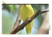 Scenic View Of An Adorable Yellow Parakeet Carry-all Pouch