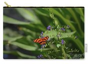 Scenic View Of An Orange Oak Tiger Butterfly Carry-all Pouch