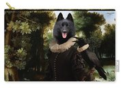 Schipperke Art Canvas Print - Forest Landscape With A Hunter And Noble Lady Carry-all Pouch