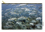 Schooling Crevalle Jacks On Caribbean Carry-all Pouch by Karen Doody