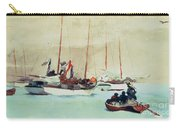 Schooners At Anchor In Key West Carry-all Pouch by Winslow Homer