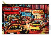 Schwartz's Deli At Night Carry-all Pouch