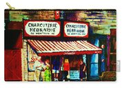 Schwartzs Famous Smoked Meat Carry-all Pouch by Carole Spandau