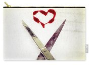 Scissors And Heart Carry-all Pouch