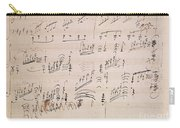 Score Sheet Of Moonlight Sonata Carry-all Pouch by Ludwig van Beethoven