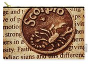 Scorpio Parchment Carry-all Pouch