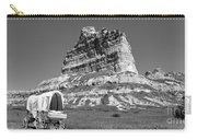 Scots Bluff Black And White Carry-all Pouch