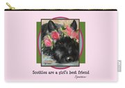 Scotties Are A Girl's Best Friend Carry-all Pouch