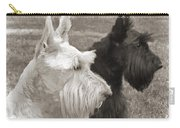Scottish Terrier Dogs In Sepia Carry-all Pouch