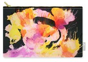 Scrambled Sunrise 2017 - Pink And Orange On Black Carry-all Pouch