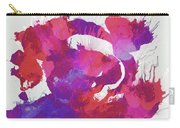 Scrambled Sunrise 2017 - Pink And Purple On White Carry-all Pouch