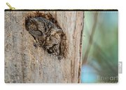 Screech Owl In A Tree Carry-all Pouch