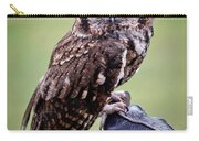 Screech Owl Perched Carry-all Pouch by Athena Mckinzie
