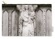 Sculpture Above North Entrance Of Westminster Abbey London Bw Carry-all Pouch