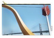Sculpture By San Francisco Bay Bridge Carry-all Pouch