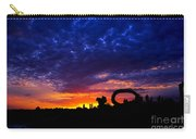 Sculpture By The Sea - Sunset Silhouette By Kaye Menner Carry-all Pouch