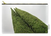 Sculpturesque Greenery - Three Cypress Trees Chiseled Against The Sky Carry-all Pouch