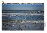 Sea Birds Feeding On Florida Coast Dsc00473_16 Carry-all Pouch