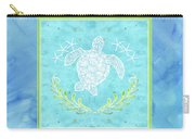 Flamingo Beach 1 - Turtle With Starfish  Carry-all Pouch