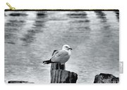 Sea Gull Black And White Carry-all Pouch