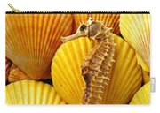 Sea Horse And Sea Shells Carry-all Pouch
