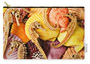 Sea Horses And Sea Shells Carry-all Pouch