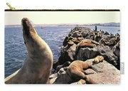 Sea Lions On Rock Pier Carry-all Pouch
