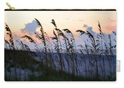 Sea Oats Silhouette Carry-all Pouch by Kristin Elmquist