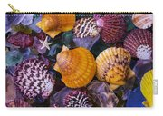 Sea Shells And Sea Glass Carry-all Pouch