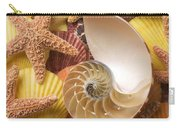 Sea Shells And Starfish Carry-all Pouch by Garry Gay