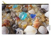 Sea Shells Art Prints Blue Seaglass Sea Glass Coastal Carry-all Pouch