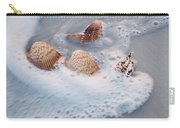 Sea Shells In A Wave Of Foam Carry-all Pouch