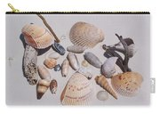 Sea Shells On White Sand Carry-all Pouch